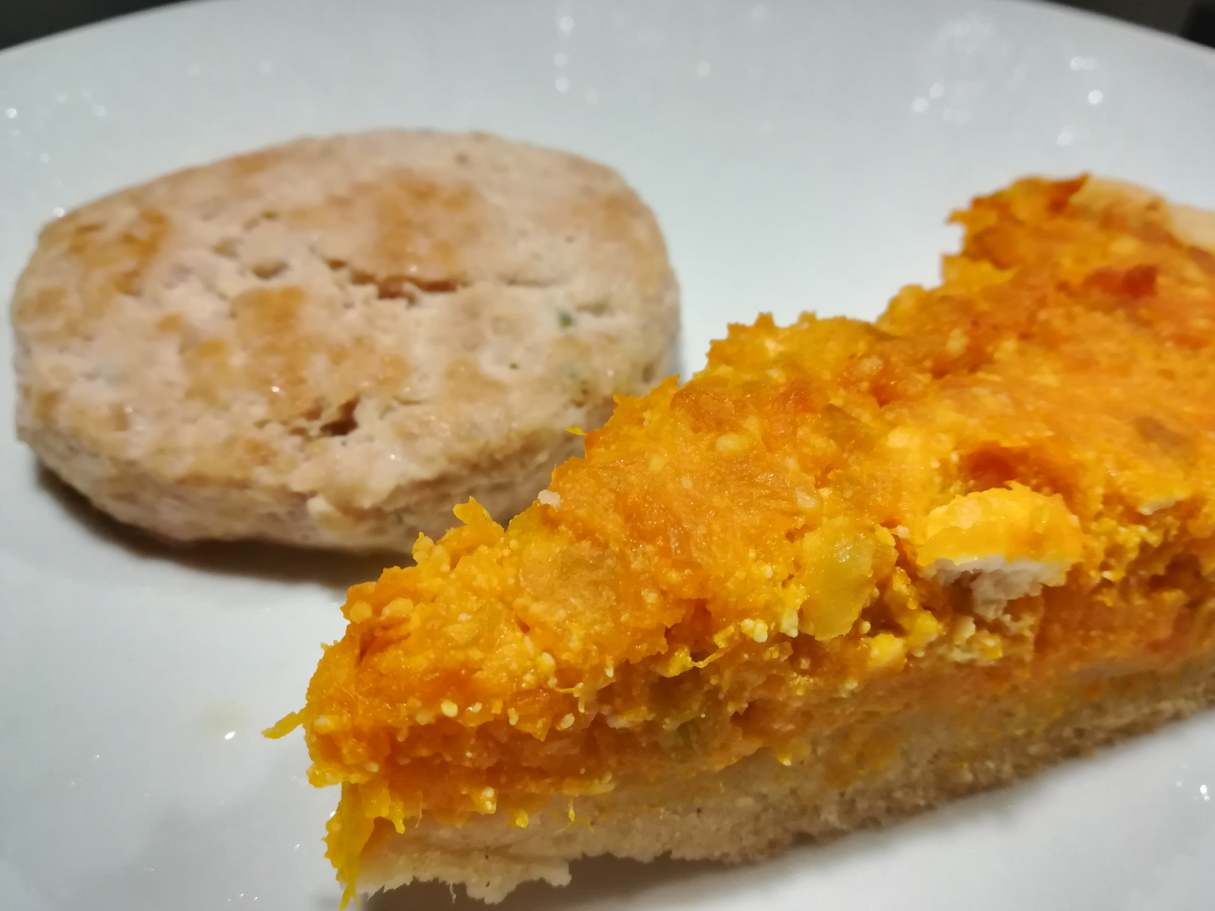 Torta salata con porri e zucca